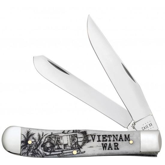 Case Vietnam War Natural Bone Smooth Trapper Knife