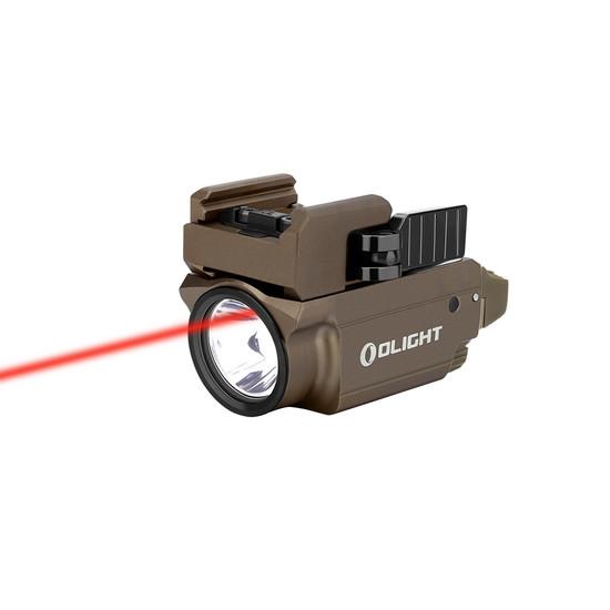 Olight Baldr RL Mini Tactical Light and Red Laser, Desert Tan