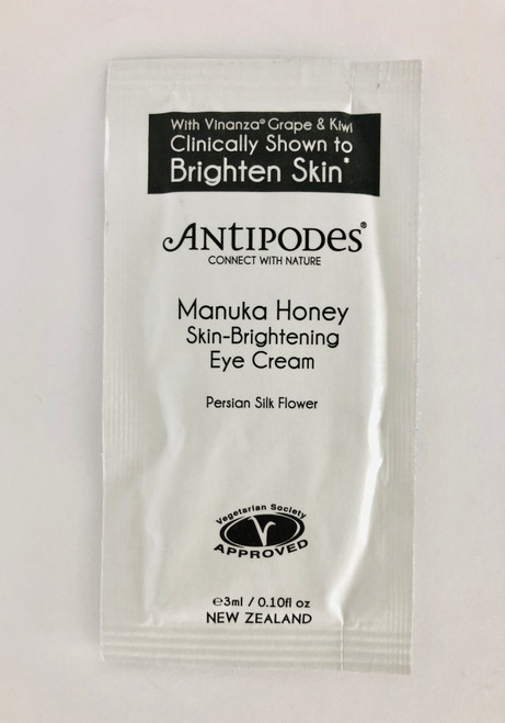 Antipodes Manuka Honey Skin Brightening Eye Cream Sample Satchel 3ml