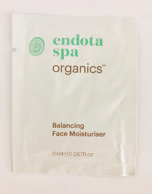 Endota Spa Organics Balancing Face Moisturizer Sample Satchel 2ml