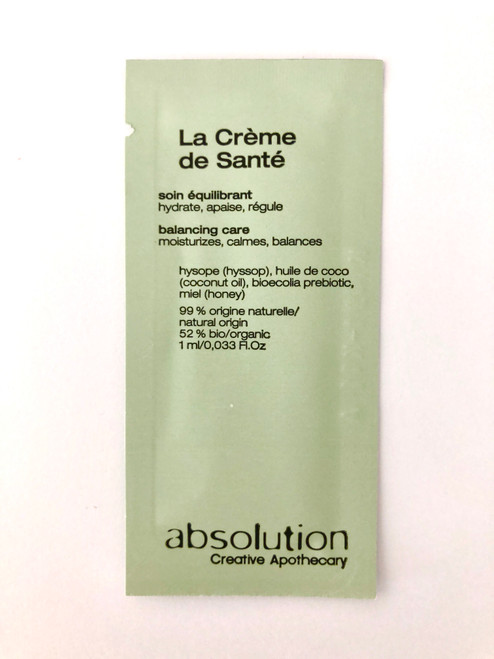 Absolution La Crème de Santé - The Health Cream Sample Satchel 1ml