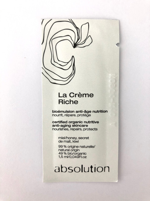 Absolution La Creme Riche Sample Satchel 1.5ml