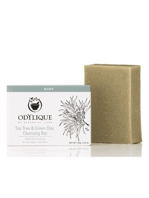 Odylique Tea Tree & Green Clay Cleansing Soap Bar 100g