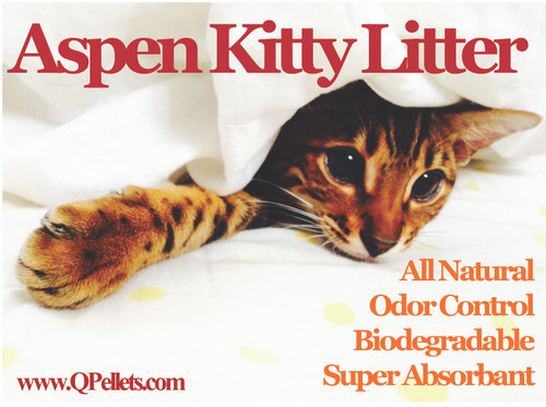 """Q"" Pellets 100% Aspen Cat Litter"