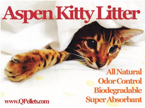 """""""Q"""" Pellets 100% Aspen Cat Litter"""