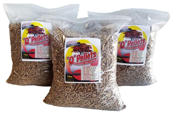 3 Bag Trial Bundle -100% Red Oak, 100% Hickory, Premium Blend - FREE Shipping!