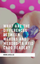 What are the differences between WEB08S and WEB08S-TA RFID card reader?