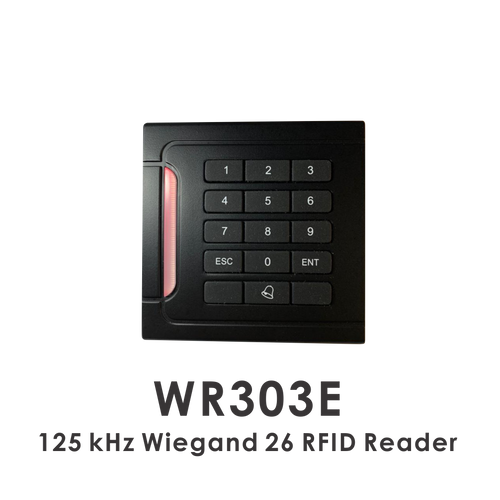 wr303e 125KHz wiegand 26 RFID reader with keypad