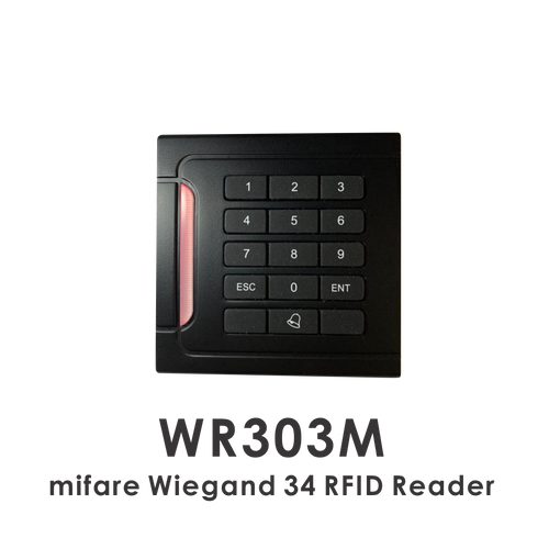 wr303m mifare wiegand 34 RFID reader with keypad