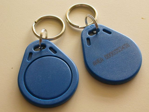 EM 125 kHz Proximity Key Fob with ID number (HS Code : 85235200, MADE IN CHINA)