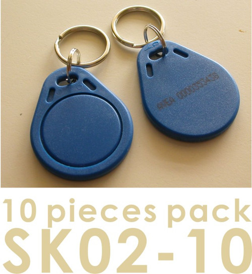 Proximity Key Fob for AVEA's access control / time recorder system, 10 pieces per pack (HS Code : 85235200, MADE IN CHINA)