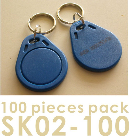 Proximity Key Fob for AVEA's access control / time recorder system, 100 pieces per pack (HS Code : 85235200, MADE IN CHINA)