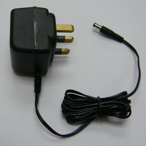 AC-DC Adaptor, Input : AC220V ~ 50Hz UK type, Output : DC9V 300mA, Center Positive 2.1mm