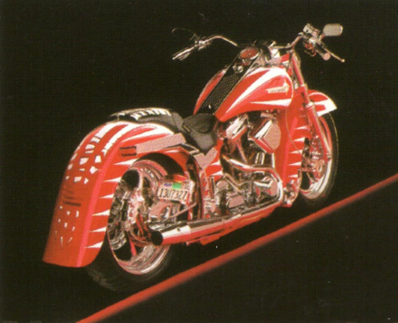 Poster Of Vintage Harley Davidson Motorcycle Wall Decor Art Print Poster 16x20