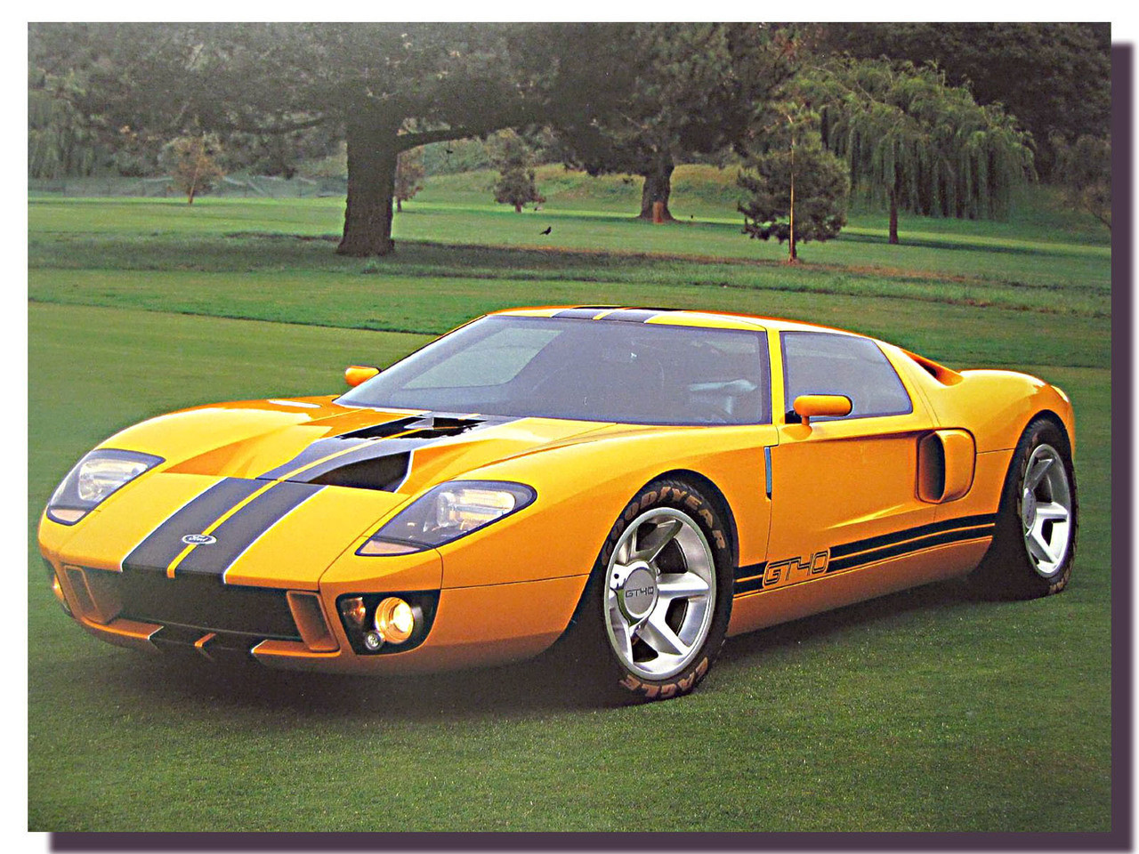 Ford Gt Prototype Car Poster Car Posters Automotive Posters