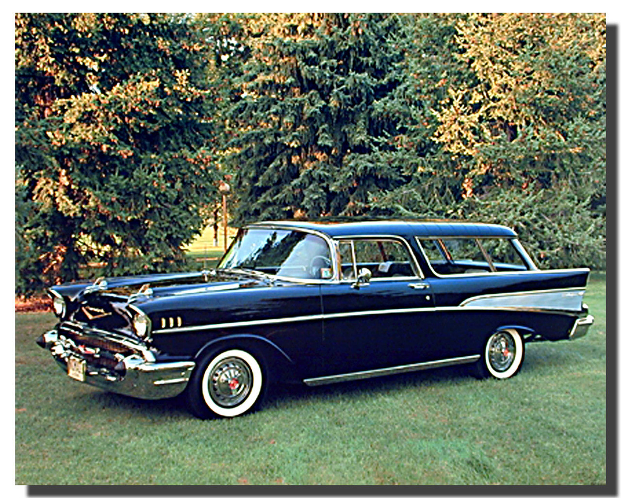 57 Chevy Nomad Bel Air Car Poster | Car Posters | Automotive Posters