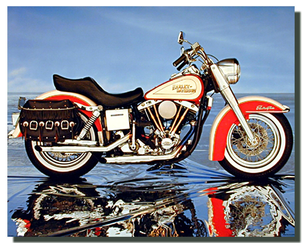 Harley Davidson Electra Glide Motorcycle Poster