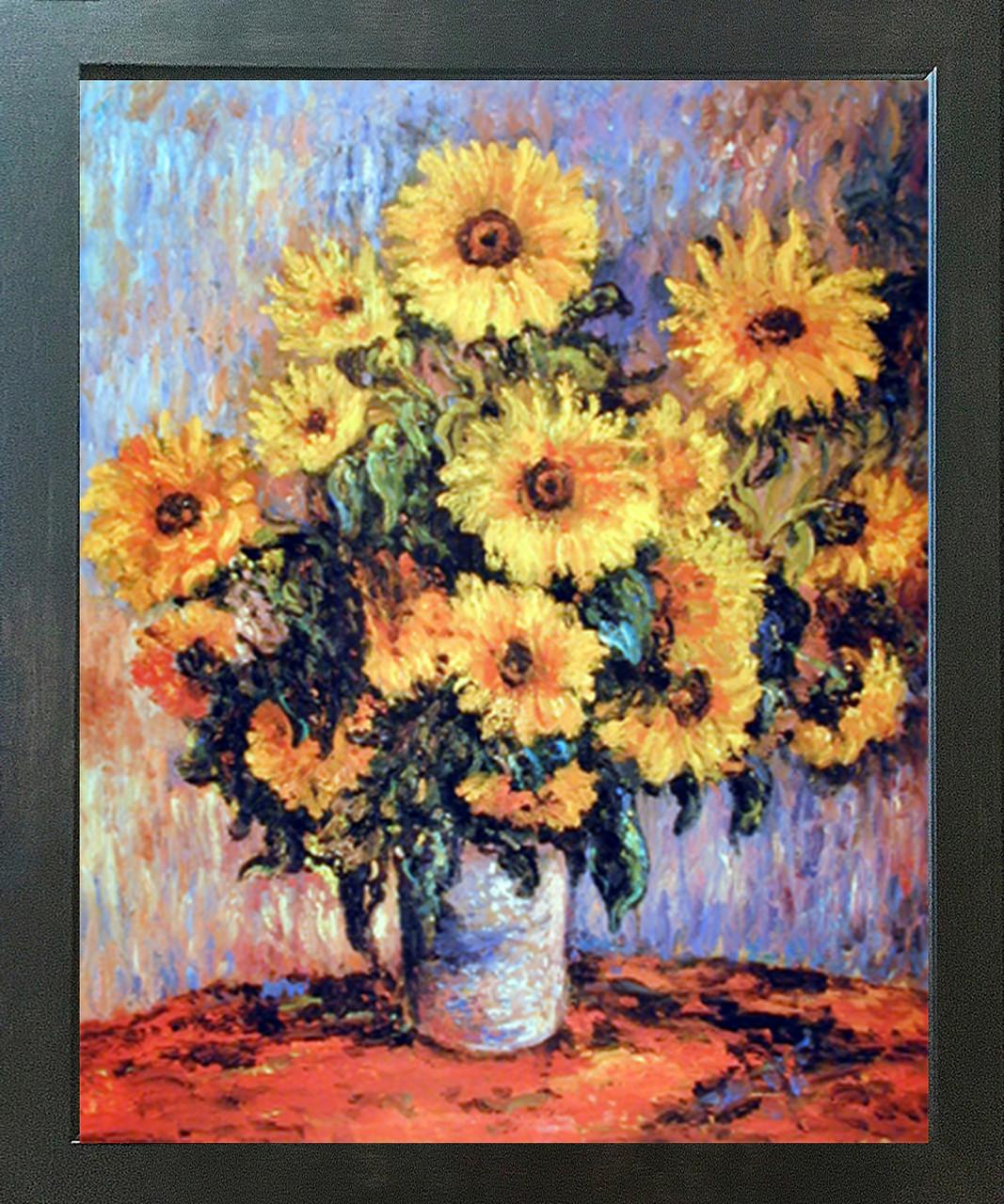 Bouquet of Sunflowers 1880 MON120 Monet Poster Art Print A4 A3 A2 A1