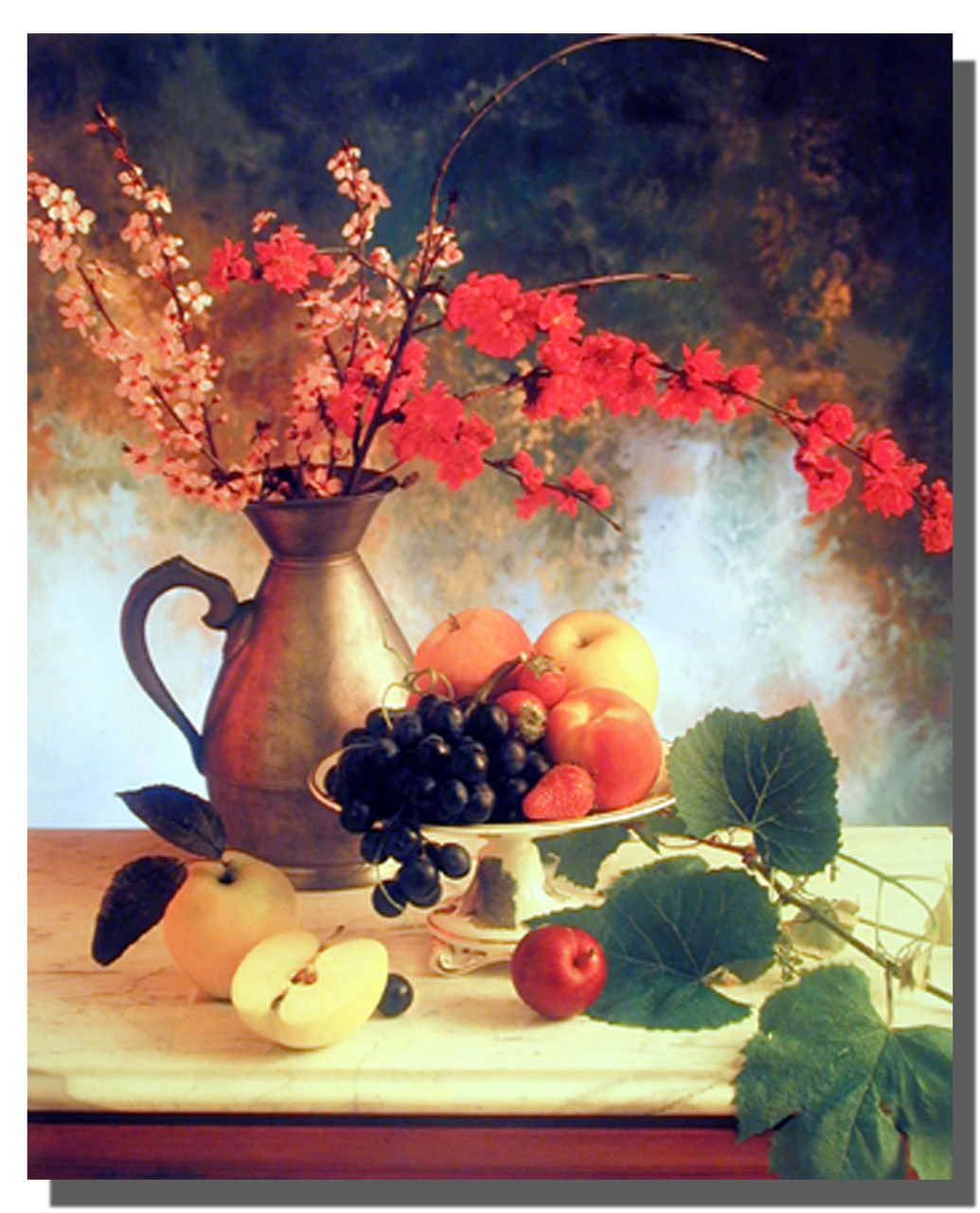 Flowers & Fruit Poster for dining area