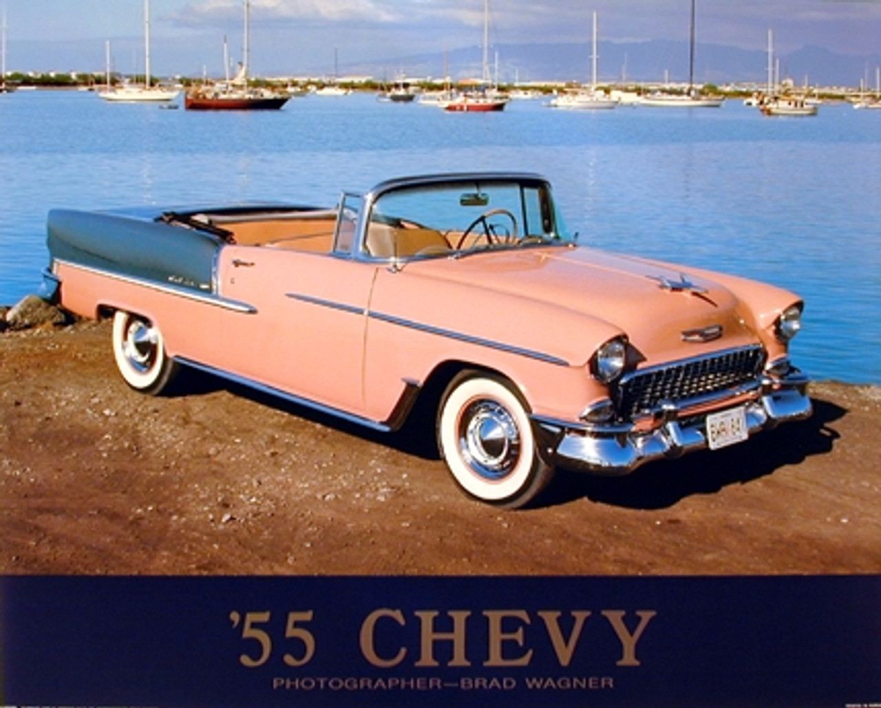 1955 Chevy Bel Air Convertible Classic Vintage Car Wall Decor Art Print Poster 16x20 Impact Posters Gallery