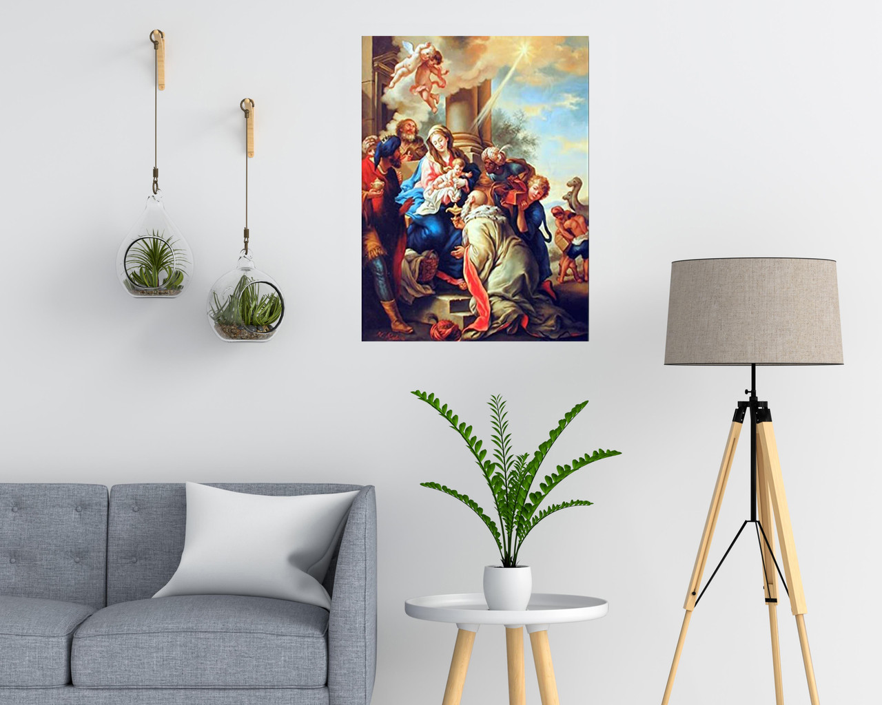 Mary with Child Ruben Religious Christian Wall Decor Art Print Poster  (16x20) - Impact Posters Gallery