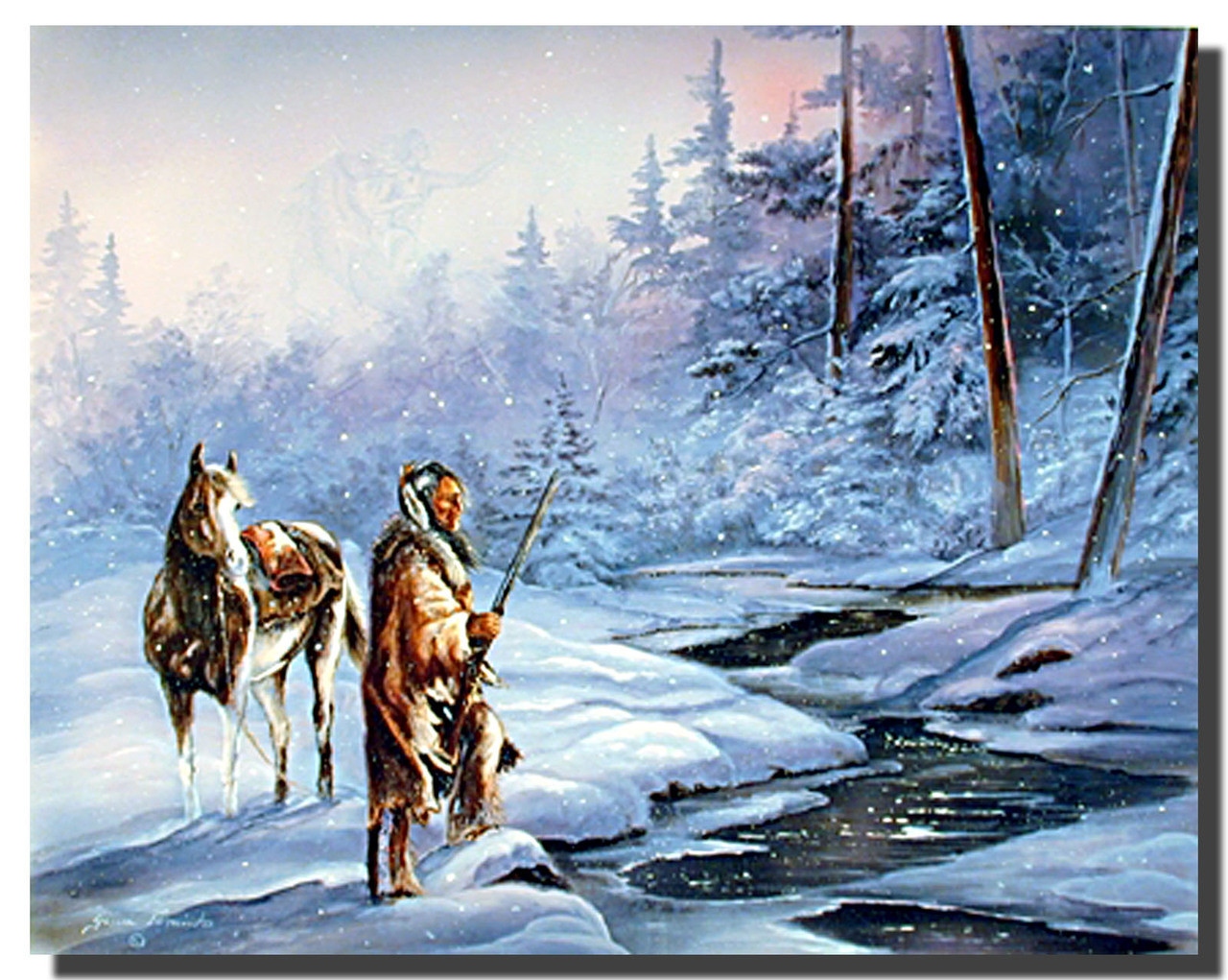 Shadows Of The Forest Poster Native American Posters
