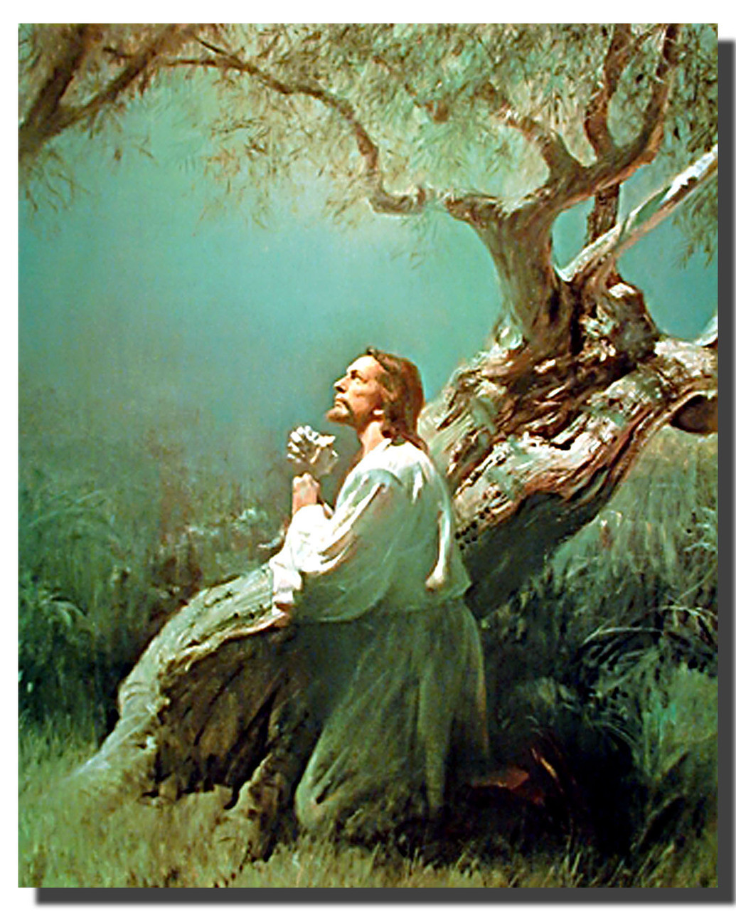 christ s prayer at gethsemane poster religious posters spiritual