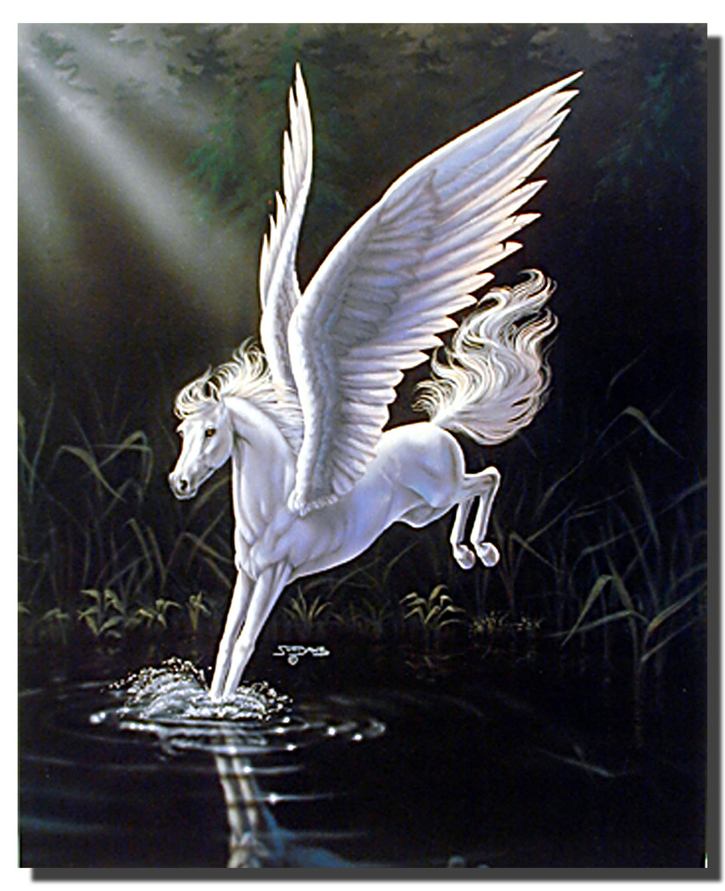 Mythical White Horse Poster Fantasy Posters