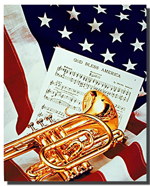 American Patriotic Poster- God Bless America