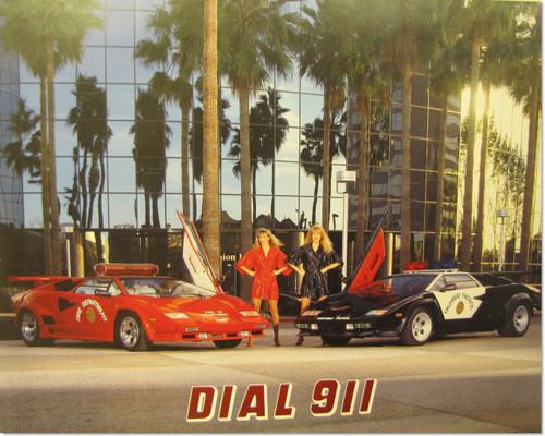 Lamborghini Poster- Dial 911