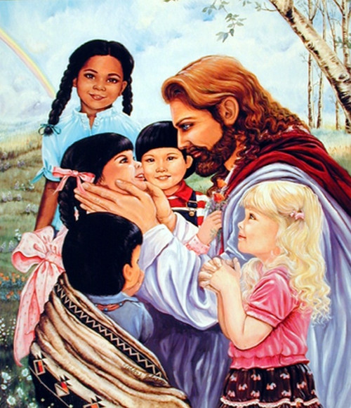 Jesus Christ with Children Posters