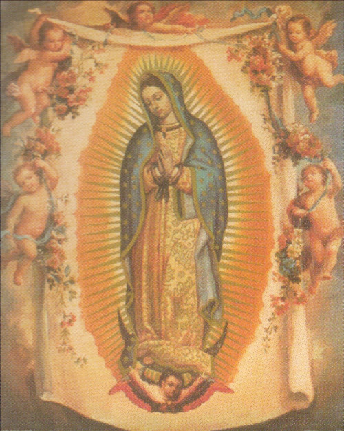 Virgin Mary Our Lady Of Guadalupe With Angels Art Print Poster (16x20)