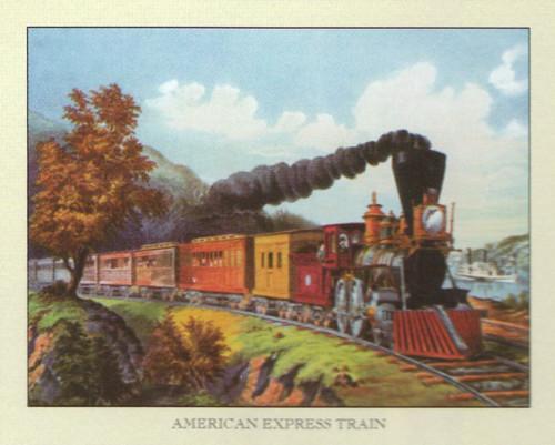 Vintage American Express Train Art Print Poster (16x20)