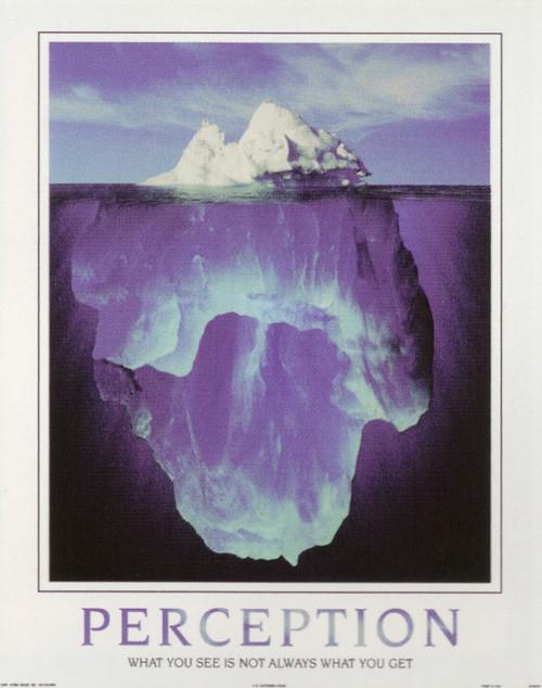 Perception Motivational Wall Decor Art Print Poster (16x20)