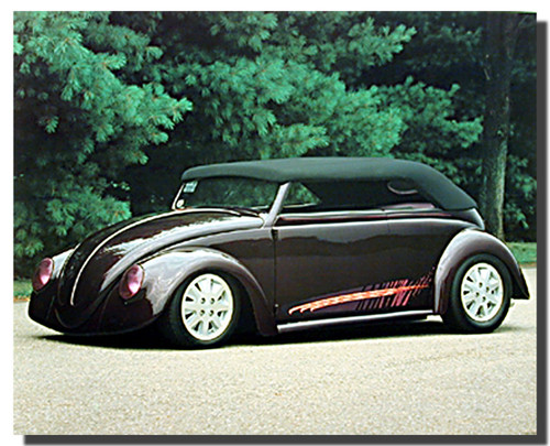 Chopped VW Bug Harley Car Posters