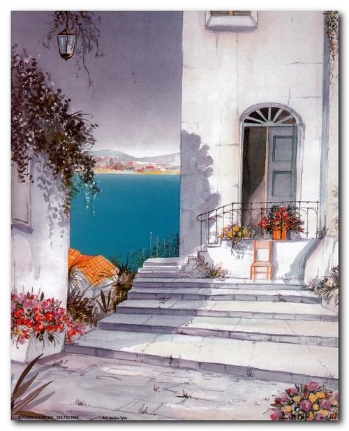 Mediterranean Views Seascape Picture Wall Decor Art Print Poster (16x20)