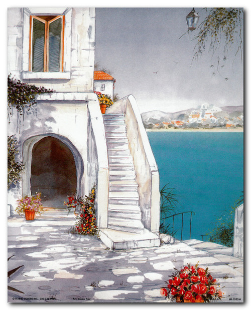 Mediterranean Views Seascape Wall Decor Art Print Poster (16x20)