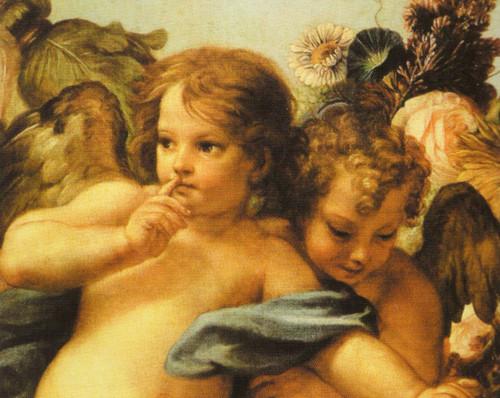 Открытка ангелы сикстинской мадонны