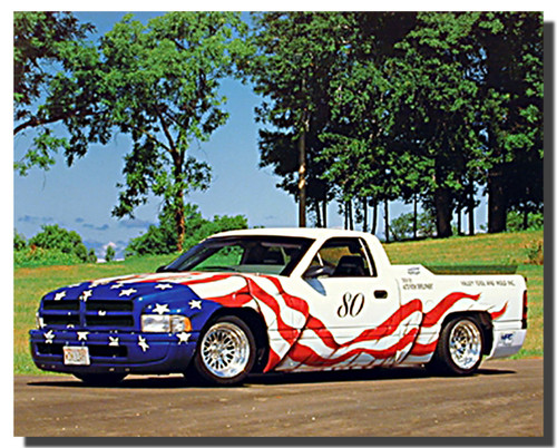 All American Dodge Harley Car Posters