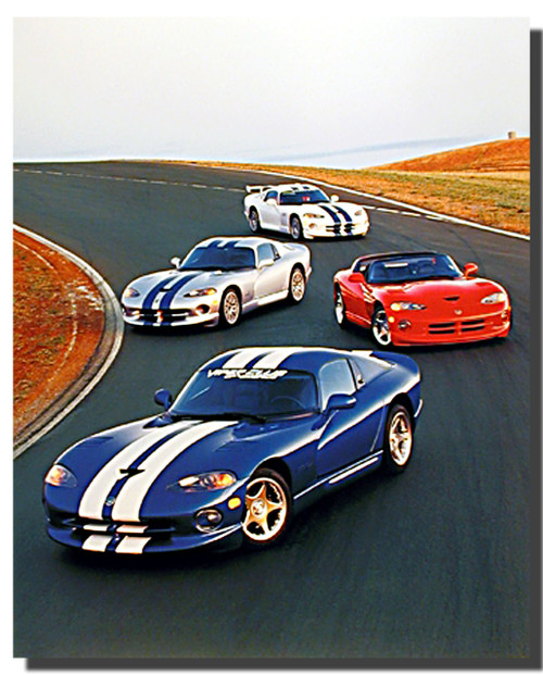 Dodge Viper On Track Posters