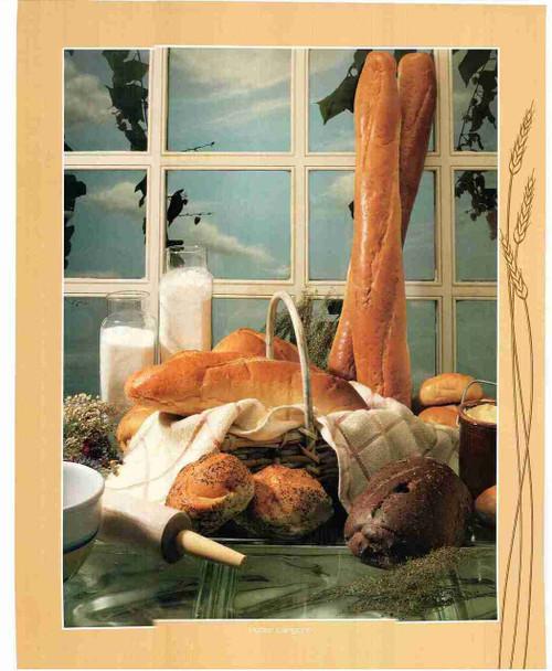 Milk & Bread Still Life Fine Wall Decor Art Print Poster (16x20)