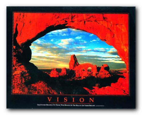 Vision Motivational Grand Canyon Decor Art Print Poster (11x14)