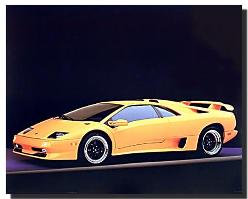 1999 Lamborghini Diablo SV Car Posters