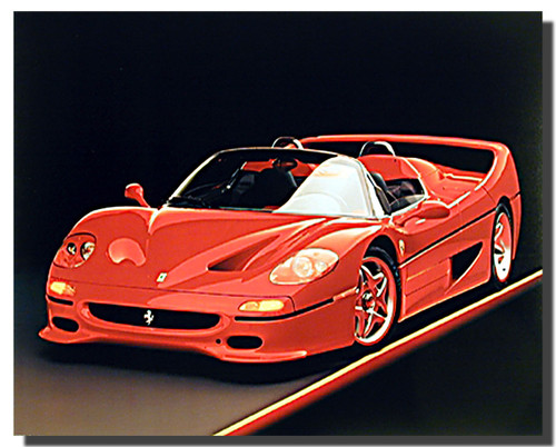 Ferrari F50 Red Car Posters