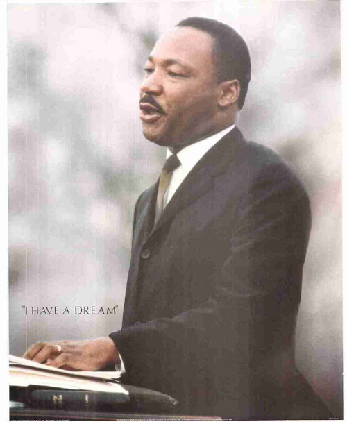 """I Have A Dream"" By Martin Luther King Jr. Speech The Civil Rights Motivational Wall Decor Art Print Poster (16x20)"