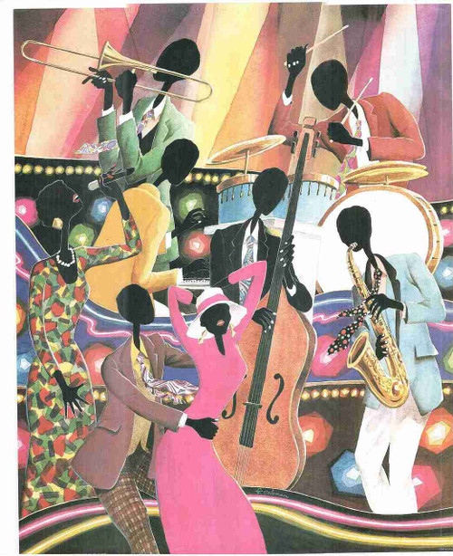 Dance With Music Wall Decor Painting Fine Art Print Poster (24x36)