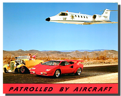 Aircraft Funny Police Car Posters