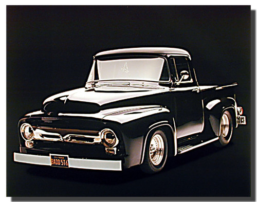 Black 1956 Ford F100 Truck Car Posters