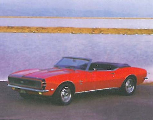 1968 Red Chevy Camaro SS 396 Car Posters