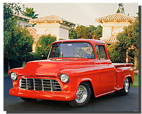 Red 1956 Chevy Truck Posters
